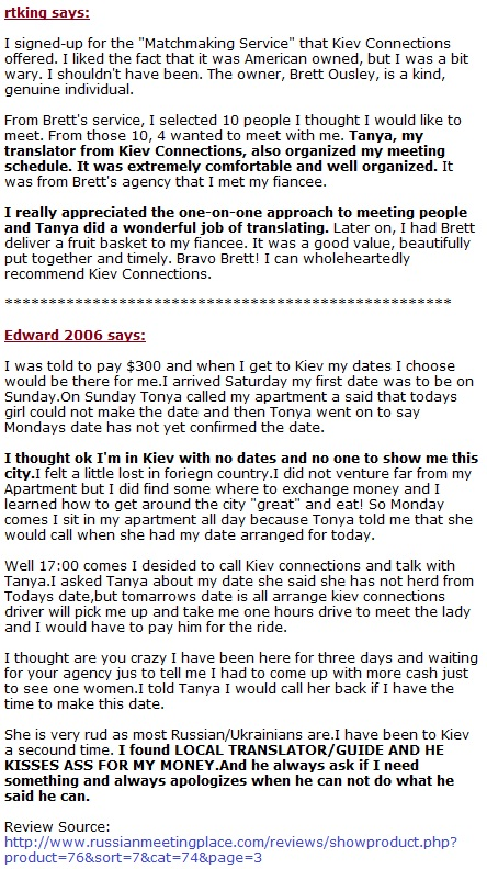 kiev connections reviews