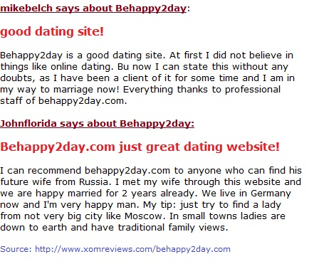 Behappy2day reviews