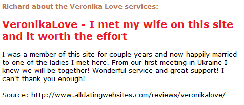 Richard about the Veronika Love services